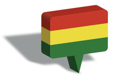 ボリビア多民族国の国旗-マップピン