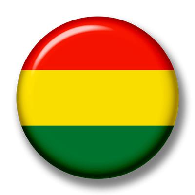 ボリビア多民族国の国旗-缶バッジ