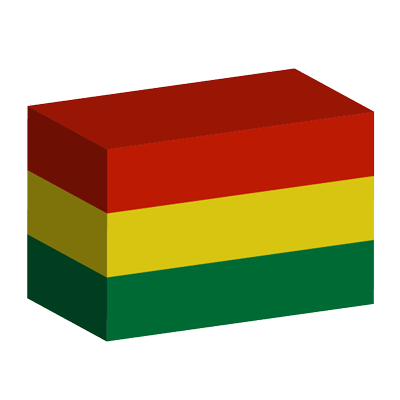 ボリビア多民族国の国旗-積み木