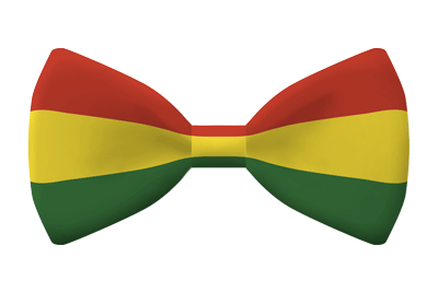 ボリビア多民族国の国旗-蝶タイ