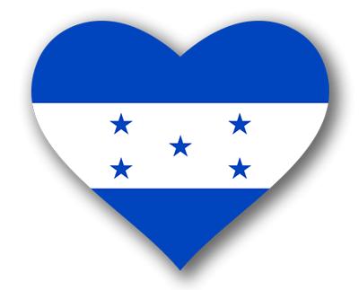 ホンジュラス共和国の国旗-ハート