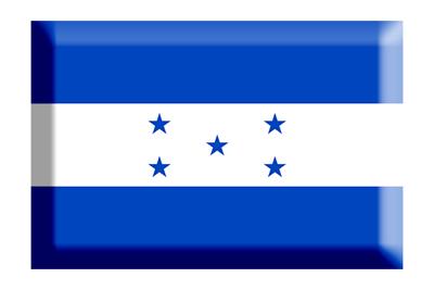 ホンジュラス共和国の国旗-板チョコ