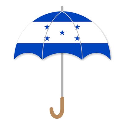 ホンジュラス共和国の国旗-傘