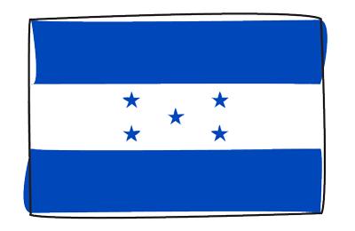 ホンジュラス共和国の国旗-グラフィティ
