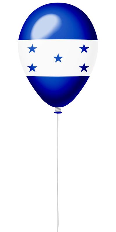 ホンジュラス共和国の国旗-風せん