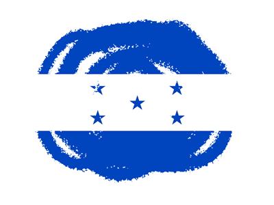 ホンジュラス共和国の国旗-クラヨン2