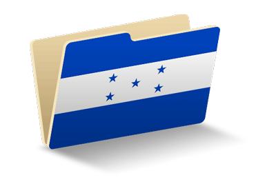ホンジュラス共和国の国旗-フォルダ