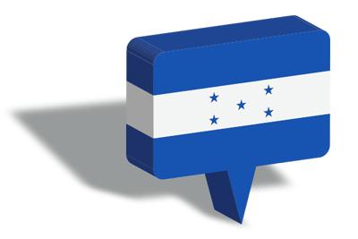 ホンジュラス共和国の国旗-マップピン