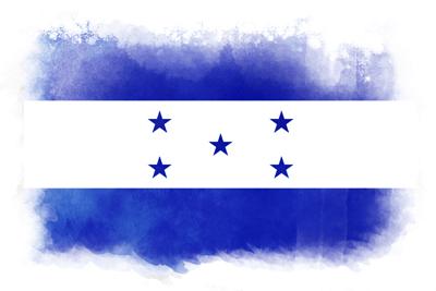 ホンジュラス共和国の国旗-水彩風