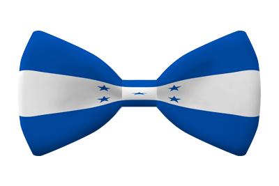 ホンジュラス共和国の国旗-蝶タイ