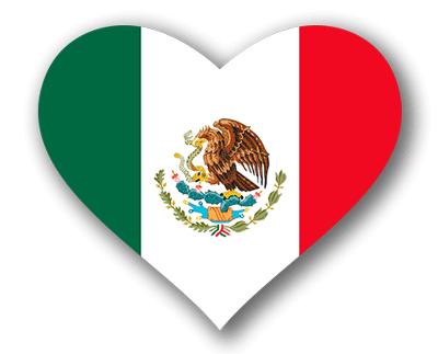 メキシコ合衆国の国旗-ハート