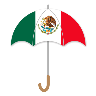 メキシコ合衆国の国旗-傘