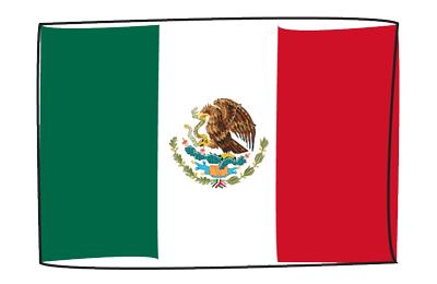 メキシコ合衆国の国旗-グラフィティ