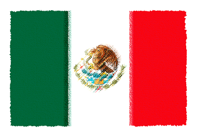 メキシコ合衆国の国旗-パステル
