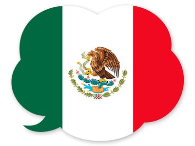 メキシコ合衆国の国旗-吹き出し
