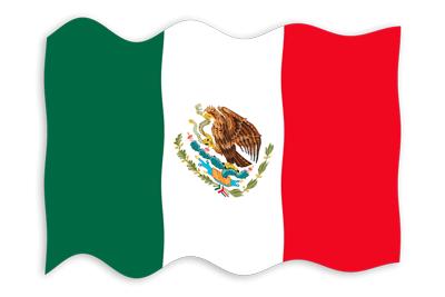 メキシコ合衆国の国旗-波