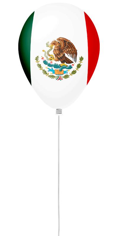 メキシコ合衆国の国旗-風せん