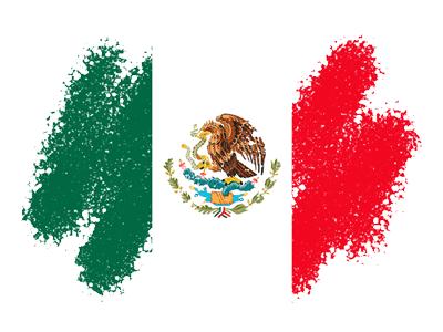 メキシコ合衆国の国旗-クレヨン1