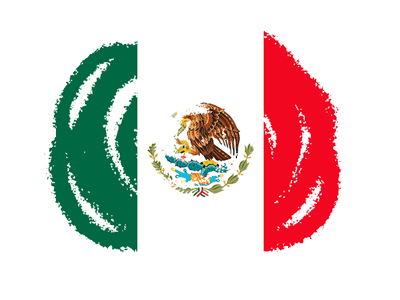メキシコ合衆国の国旗-クラヨン2