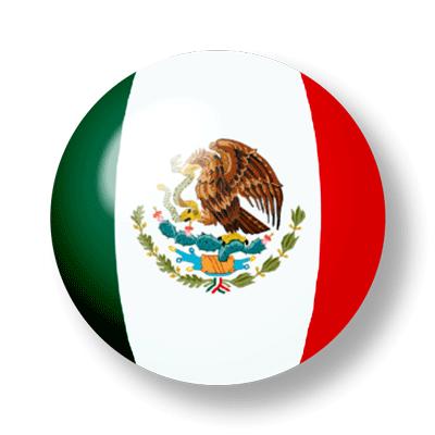 メキシコ合衆国の国旗-ビー玉