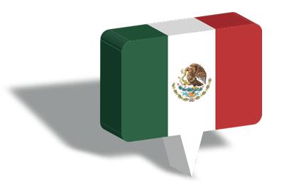 メキシコ合衆国の国旗-マップピン