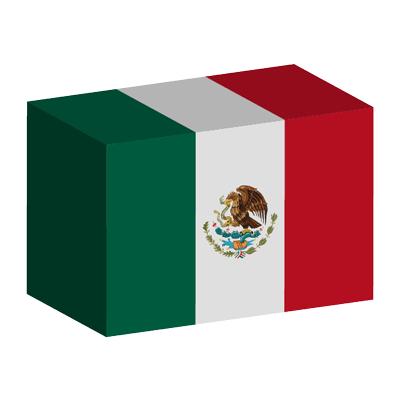 メキシコ合衆国の国旗-積み木