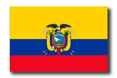 エクアドル共和国の国旗-ドロップシャドウ