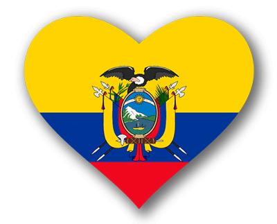 エクアドル共和国の国旗-ハート