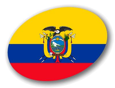 エクアドル共和国の国旗-楕円