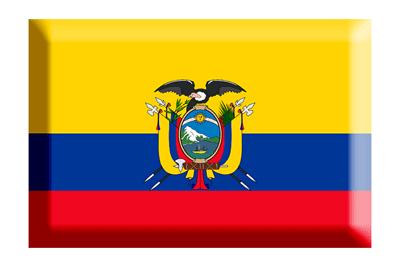 エクアドル共和国の国旗-板チョコ