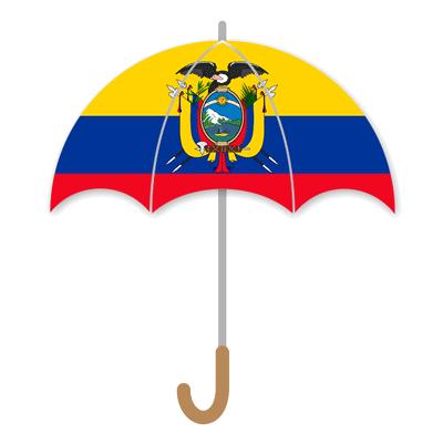 エクアドル共和国の国旗-傘