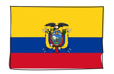 エクアドル共和国の国旗-グラフィティ