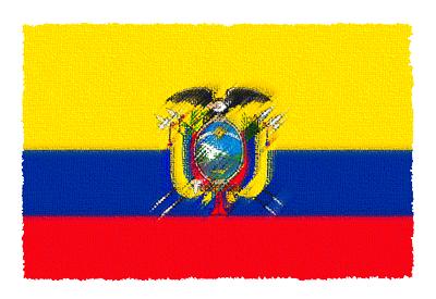 エクアドル共和国の国旗-パステル