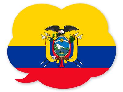 エクアドル共和国の国旗-吹き出し