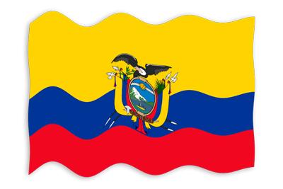 エクアドル共和国の国旗-波