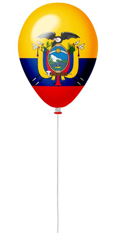 エクアドル共和国の国旗-風せん
