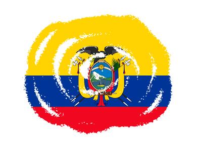 エクアドル共和国の国旗-クラヨン2