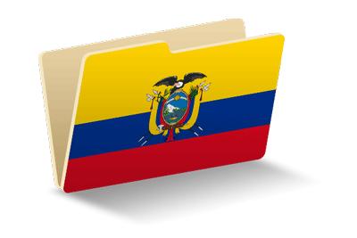 エクアドル共和国の国旗-フォルダ