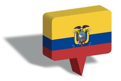 エクアドル共和国の国旗-マップピン