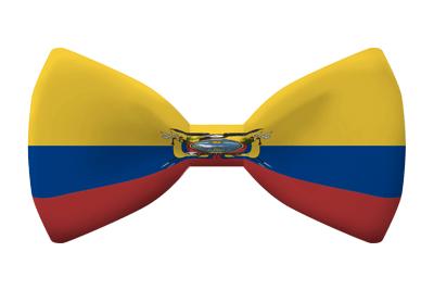 エクアドル共和国の国旗-蝶タイ