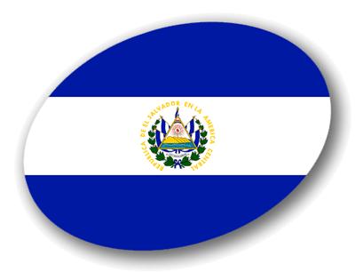 エルサルバドル共和国の国旗-楕円