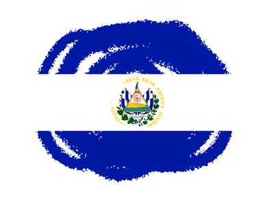 エルサルバドル共和国の国旗-クラヨン2