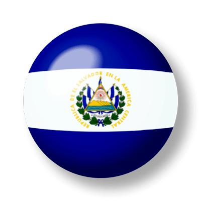 エルサルバドル共和国の国旗-ビー玉
