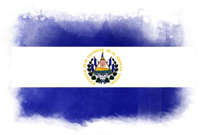 エルサルバドル共和国の国旗-水彩風