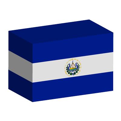 エルサルバドル共和国の国旗-積み木