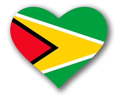 ガイアナ共和国の国旗-ハート