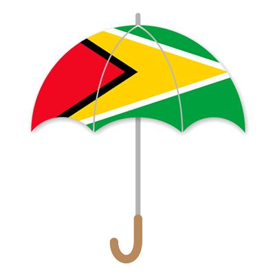 ガイアナ共和国の国旗-傘