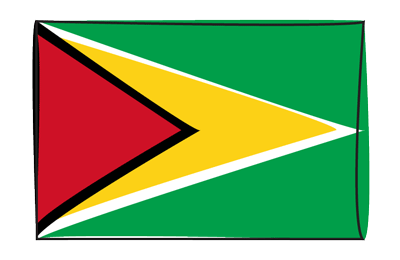 ガイアナ共和国の国旗-グラフィティ
