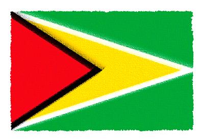 ガイアナ共和国の国旗-パステル