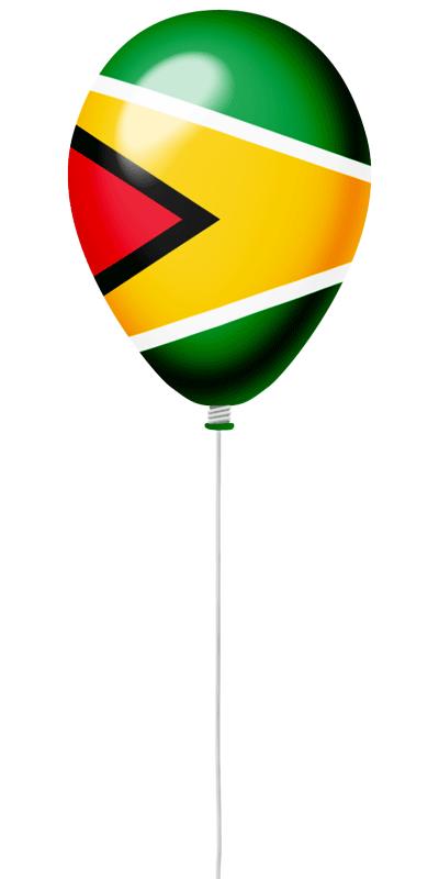 ガイアナ共和国の国旗-風せん